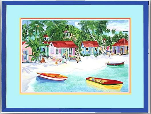 Cool Bananas Bay - framed #2