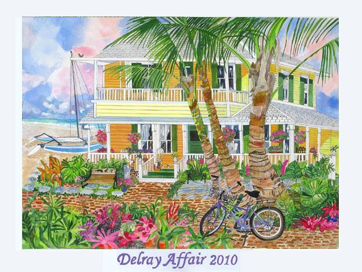 Delray Affair 2010 - Yellow Beach House Poster